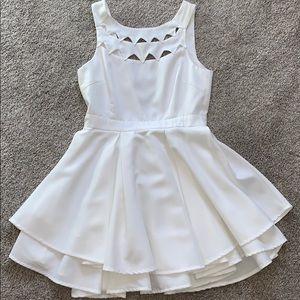 LuLus White Mini Skater Dress